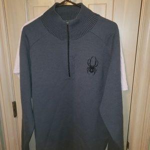 Mens Sz med Spyder gray ski sweater like new